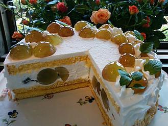 葡萄のショートケーキ