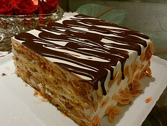 胡桃とチョコのショートケーキ